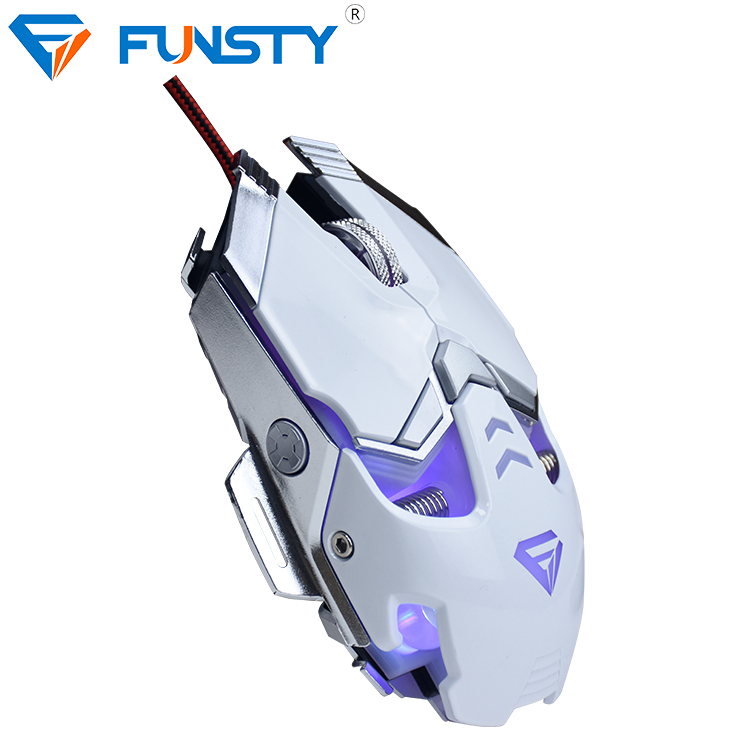 Both hand usb good optical gaming mouse with macro
