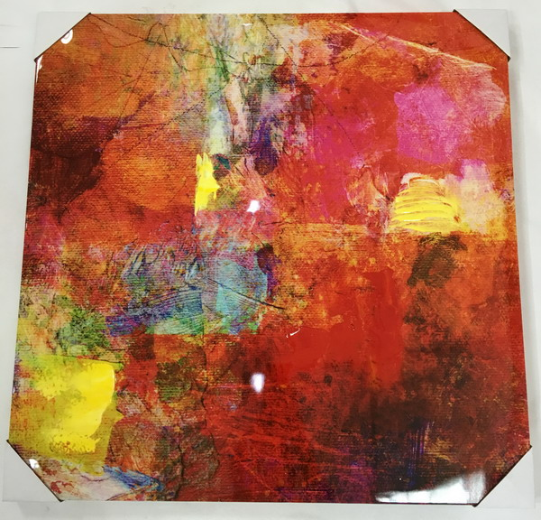 China wholesale custom abstract oil paintings on canvas with glass coating