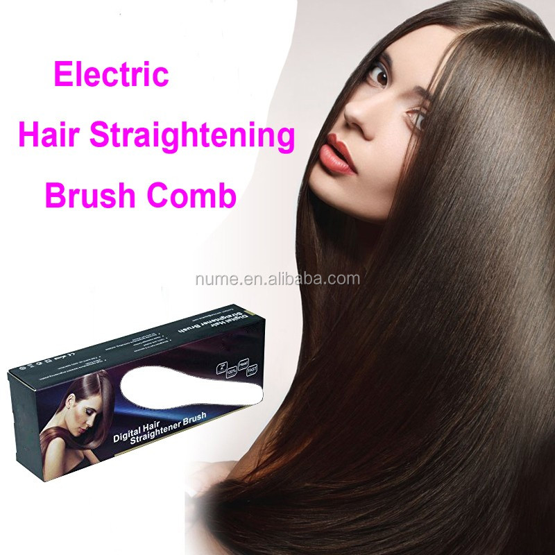 Barber shop equipment electric straightening hair brush hair straightener