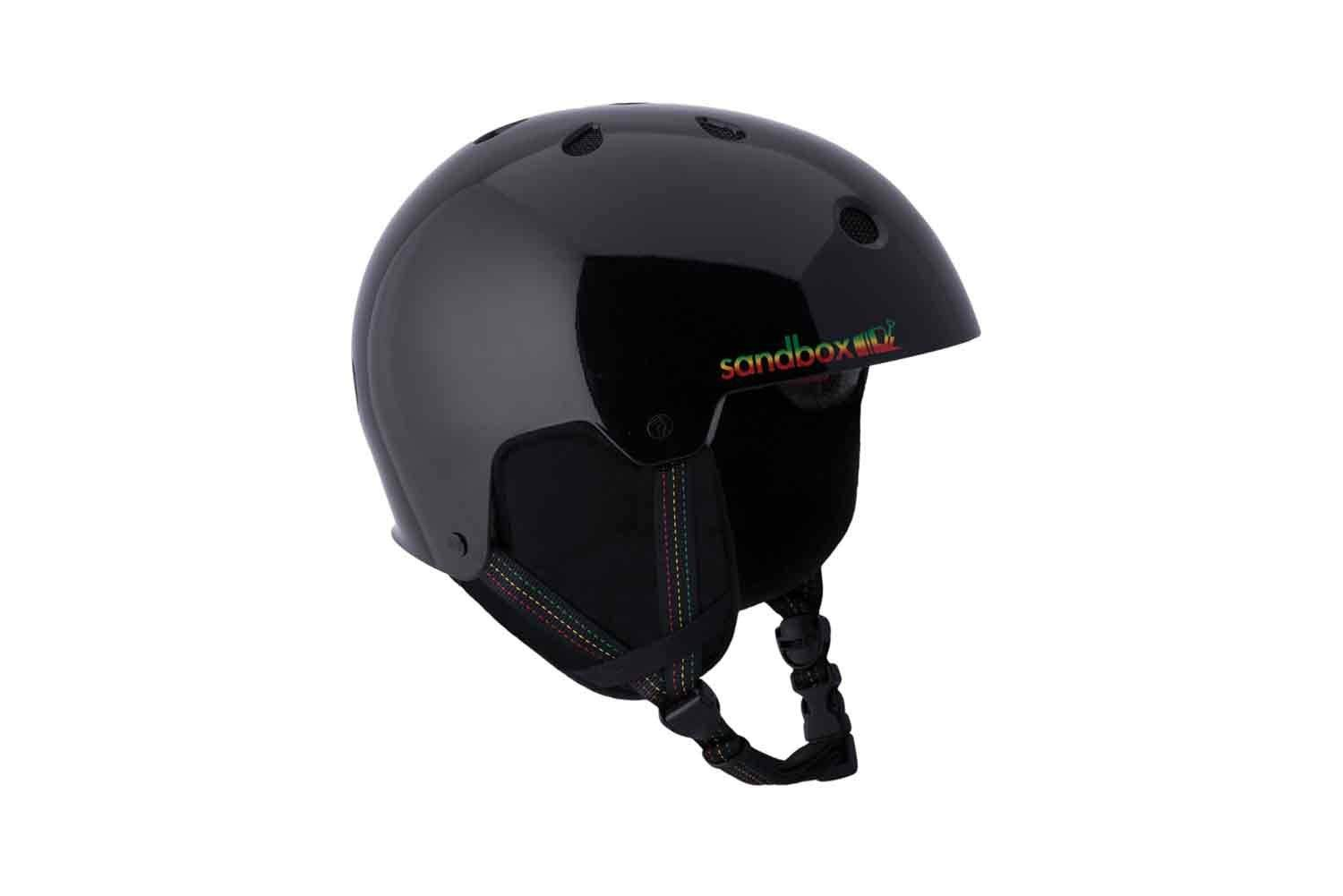 SANDBOX helmets Legend Snow Helmet with EPS Liner, Small, Black Rasta