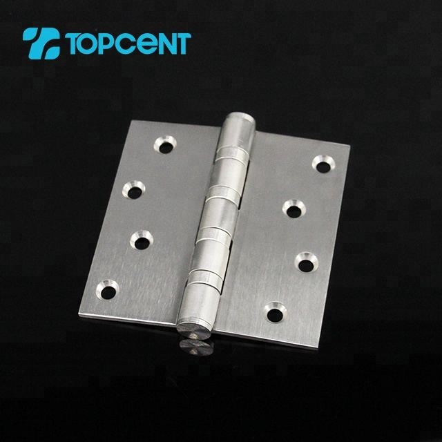 Furniture ball bearing l shape continuous pivot butt stainless steel concealed door spring hinge for cabinet door