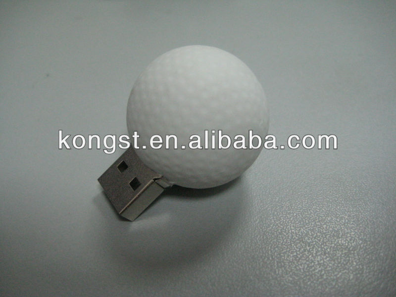 OEM Plastic Golf Ball USB Flash Memory With High Quality