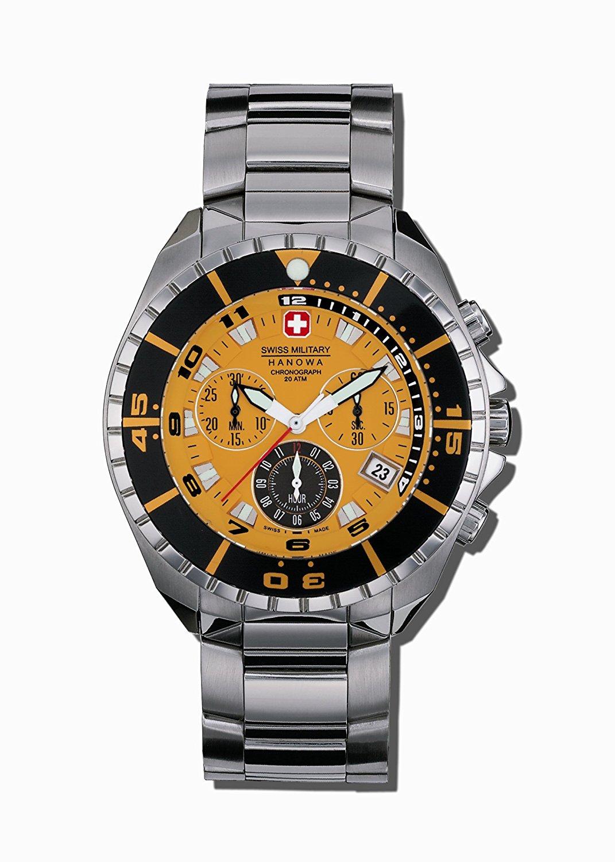 Swiss Military Hanowa Men's 06-5096-04-079 Sealander 316L Stainless Steel Orange Dial Watch