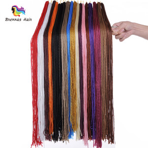 "Fashion 100% Kanekalon Synthetic Micro Bohemian Style Long 28"" Hair Twist Box Braids for Hair Salon"