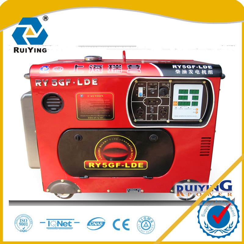 5 KW Silent Type Diesel Generator with Electric Startup Function