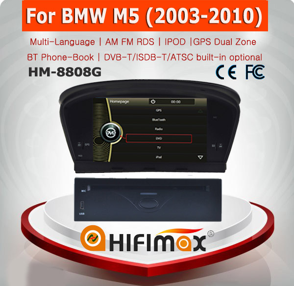 HIFIMAX Car DVD GPS for BMW M5 E60 X5 X6/BMW 5 Series E60 E61navigation head unit with Bluetooth RDS IPOD
