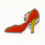 Factory direct malaysia red high heeled shoes lapel pin with butterfly clasp