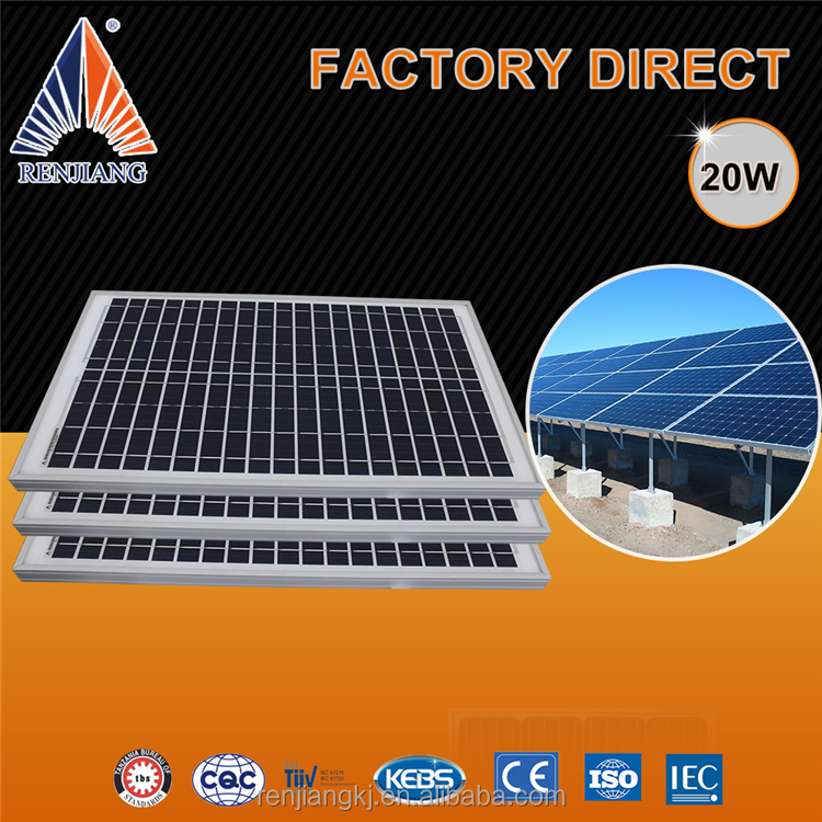 Top Alibaba Supplier 20W Pv Solar Panel For Solar System 5Kw
