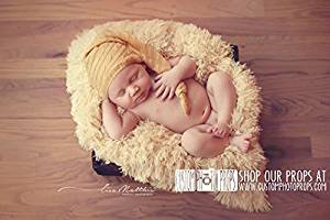 Hypoallergenic & Washable SuPeR Size Buttercup Yellow Faux Fur Newborn Photo Props - Baby Photography Props, Backdrop, Props, Newborn Photography Props, Boy Props, Girl Props