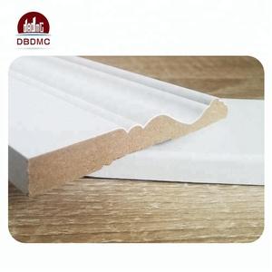 White primed wall baseboard match wood flooring skirting baseboard