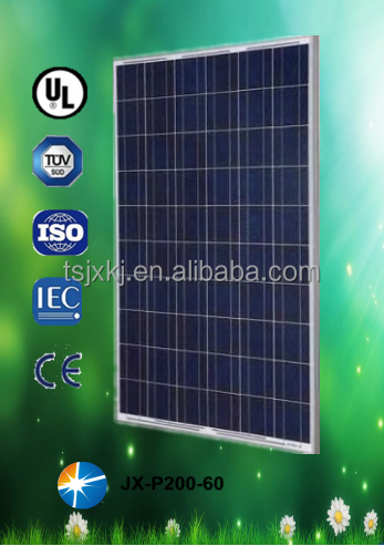 200w polycrystalline solar penals from chinese manufacturer, cheap price and high efficiency