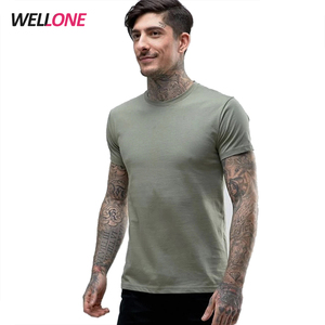 Dry fit breathable 95% cotton 5% elastane custom printing khaki man sport t-shirts cricket