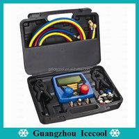 Refrigeration digital manifold gauge set digital gauge HS-350A with 60'' charging hose