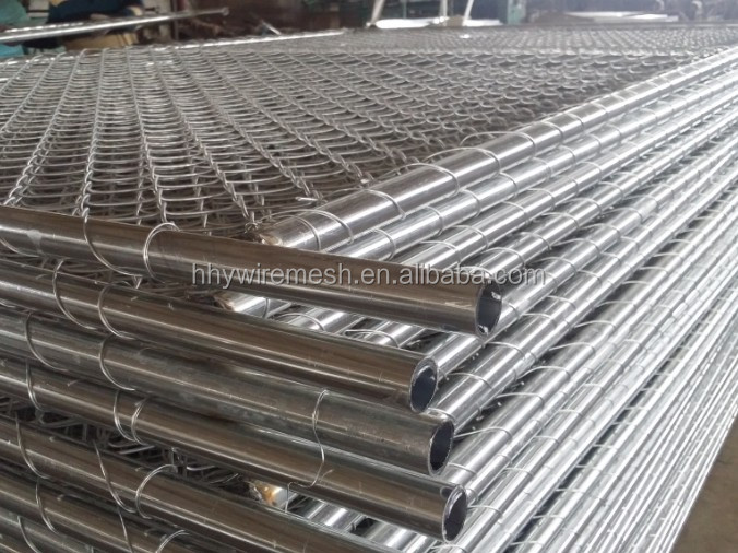 wleded pipe temporary barrier  Best price standard size Top Quality chain link type temporary fence