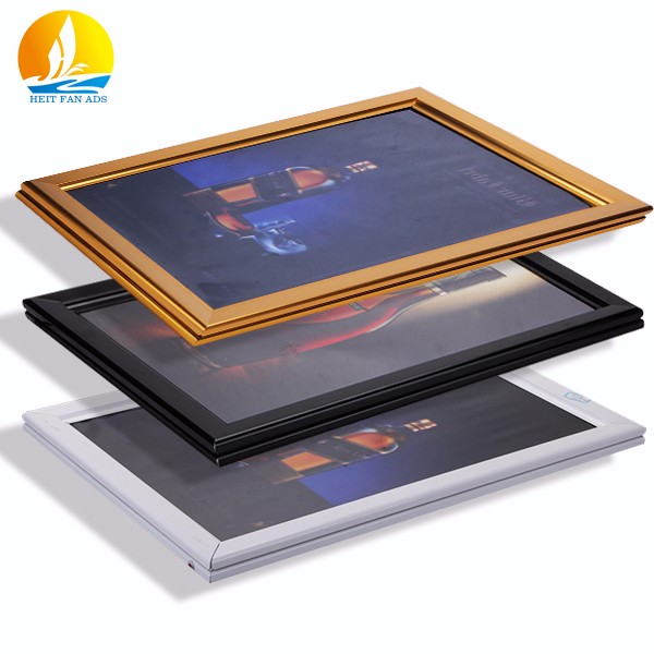 Aluminum profiles advertising led light box custom fabrication jewelry photo slim light box displays material for restaurant