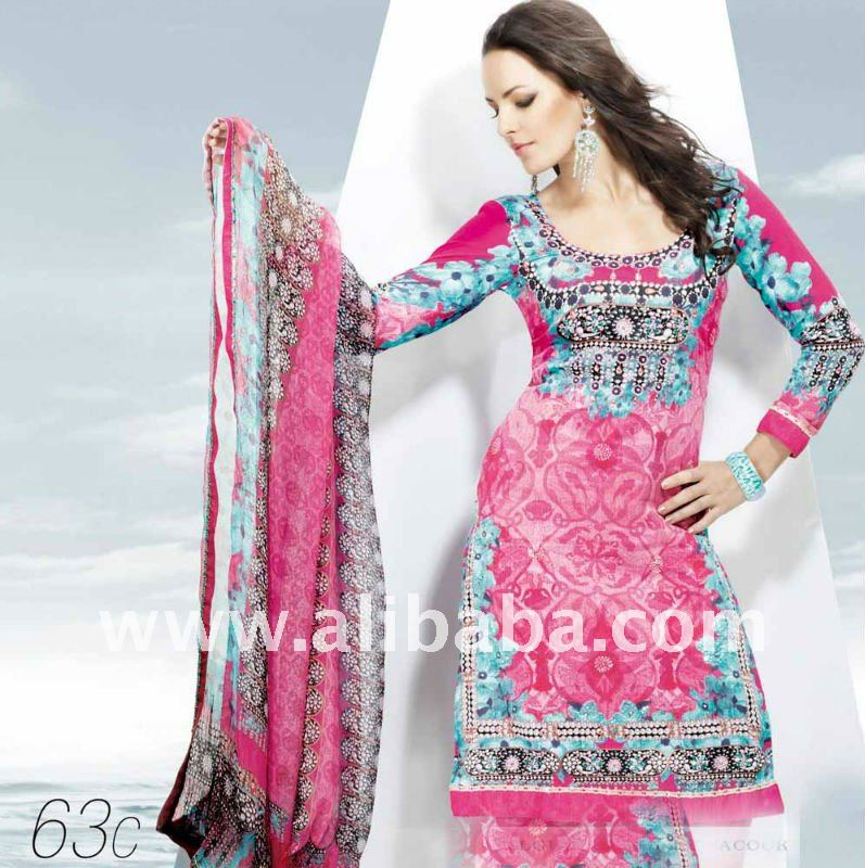Vestido Indio Diseñador Salwar Kameez Paquistaní Traje Sari - Buy ...