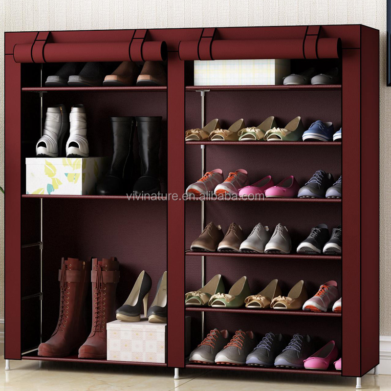 Big Size Shoe Rack With Dustproof Cover Closet Shoe Storage Cabinet  Organizer