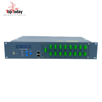 8/16/32/64 Output EDFA input -8port 16port 10dBm 1550nm Erbium-doped Optical Fiber Amplifier with WDM