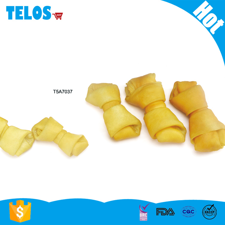 Telos smoked porkhide expand knot bone dog snack