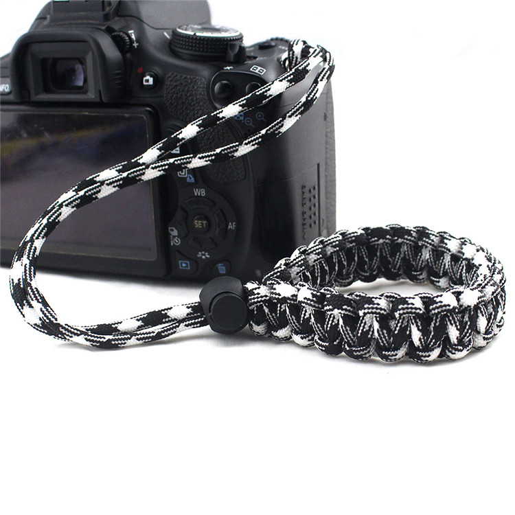 Camping Custom Color Decorative paracord camera strap with Adjustable bukckle