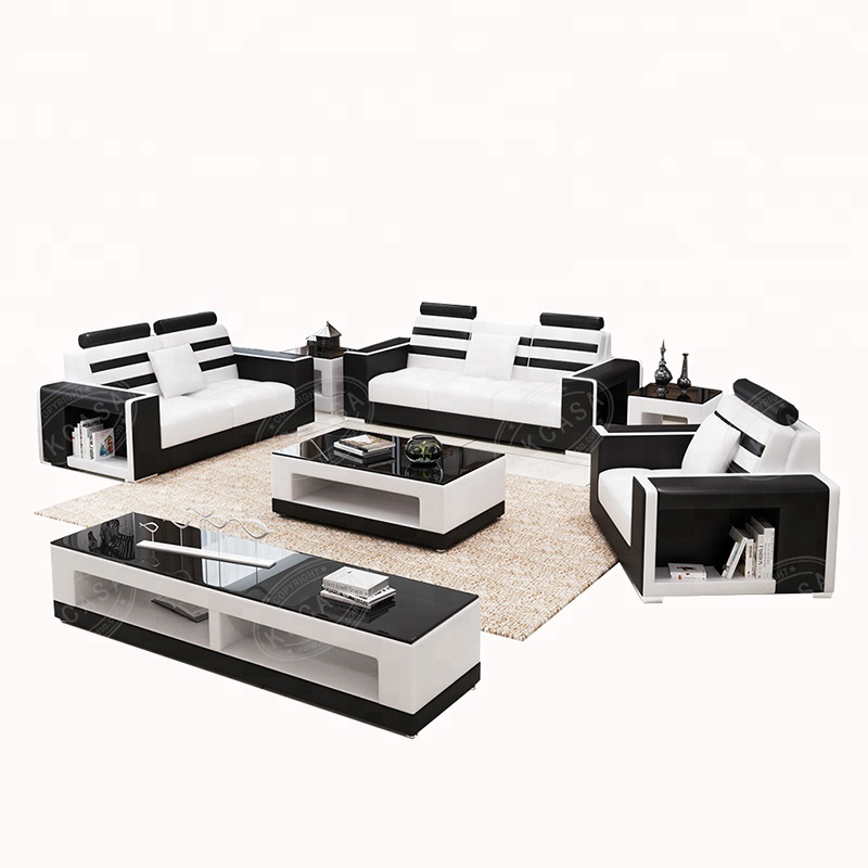 American <strong>modern</strong> best sell black leather office genuine leather I shaped sofa set <strong>modern</strong>