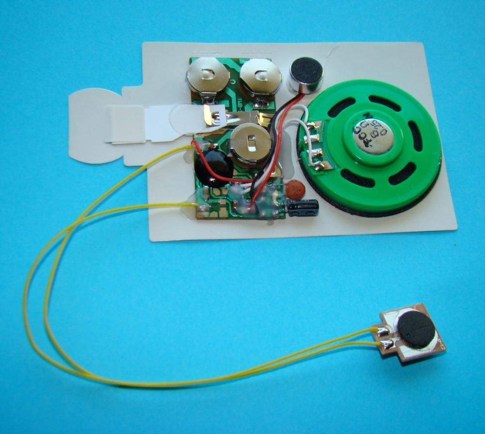 Открытки днем, звуковой модуль открытки