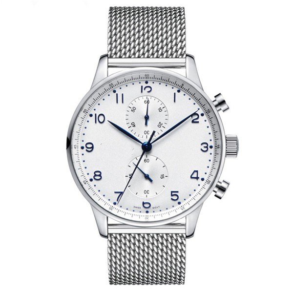 Your own logo on the watch milano watch with high quality stainless steel mesh band