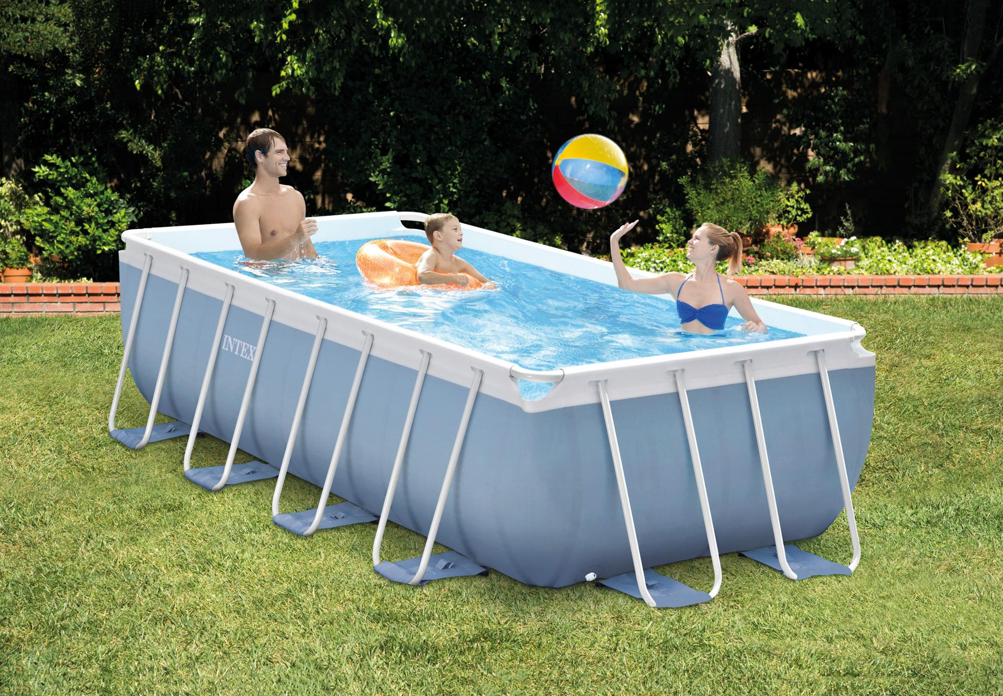 INTEX 26712  Metal Frame Pool large inflatable outdoor Family swimming pool