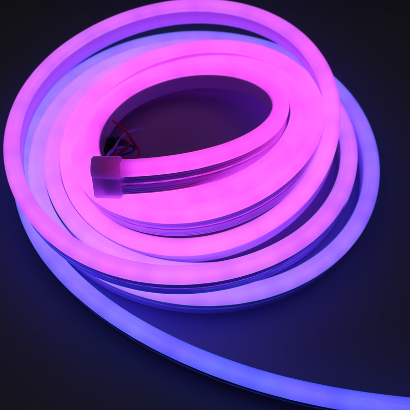Outdoor Silicon Waterproof SMD3528 120LEDs/M Neon Light Purple Roll Of Led Strip Lights For Shelves