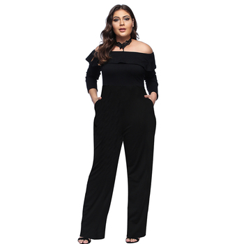 62f3b26ceca1 Low price fat women one piece plus size jumpsuits romper trousers pants for  women