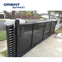 aluminum fence wood grain slat panels