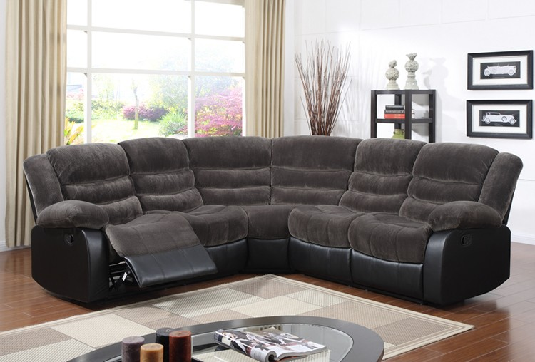 Zoy-93935 Modern Bella Match PU Leather Half Round Sectional Sofa