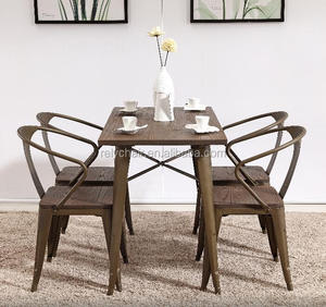 modern design metal dining chair restaurant cafe chair and table sets
