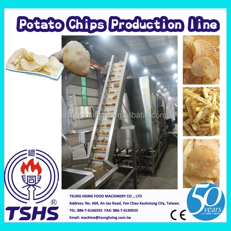High Quality Large Type Oil Fried Crispy Potato Chips Processing Line