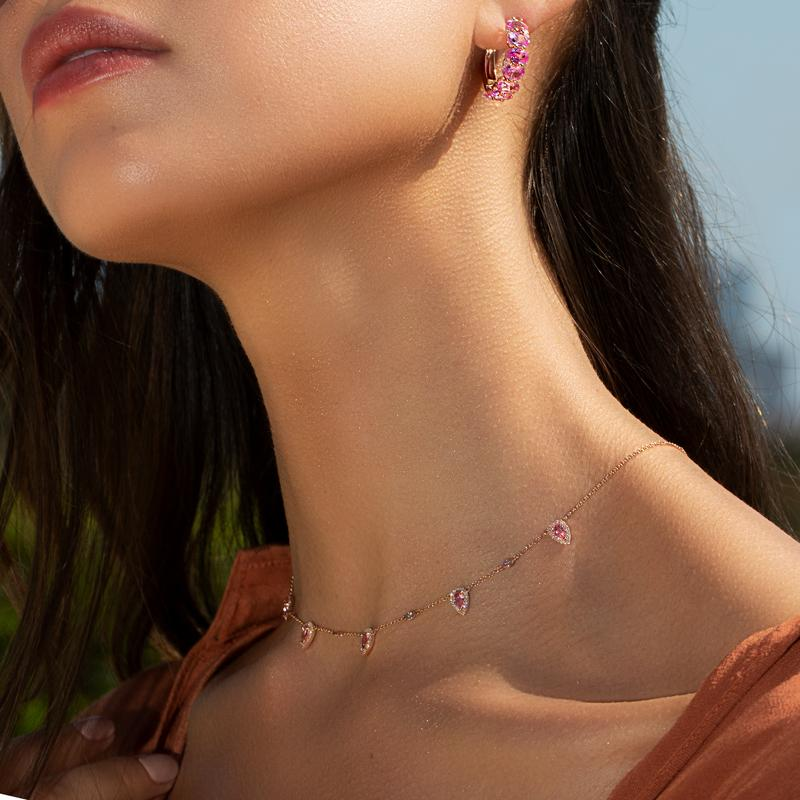 Halskette mit Anhänger Träne Tropfen Wasser Drop -Tears gold