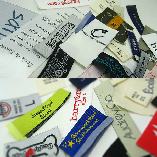 Fashion Style Centerfold Customize Woven Label for Clothing