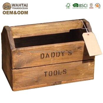 vintage rustico in legno personalizzato cassa cassetta degli