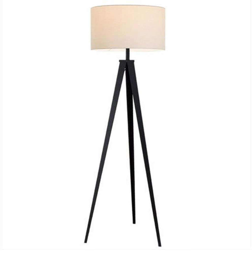 Floor light Floor lamp/living room simple modern creative fashion Nordic American bedroom vertical floor lamp bedside lamps (Color : A, Style : White shade)