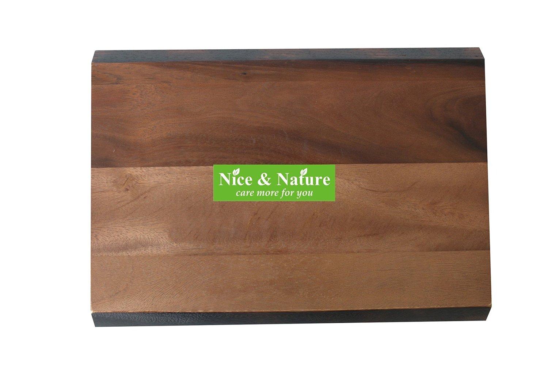 """Chopping Board Acacia Wood, Acacia Edge Grain Prep Station Cutting Board, Acacia Wood Cutting Board, Pantryware 17"""" x 12"""" Wood Cutting Board, Acacia Bread Cutting, Rounded Presentation Board Acacia"""