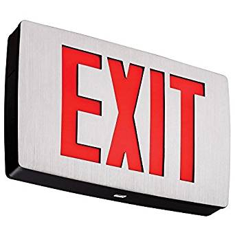 Lithonia Lighting LQC 1 R EL N LED Exit Sign Emergency with Red Letters, Black by Lithonia Lighting