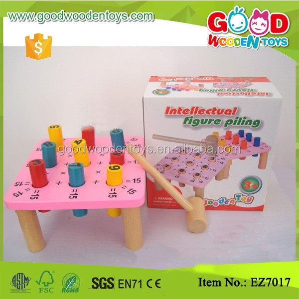 Wooden Educational Game Math Learning Kids Hammer Toys