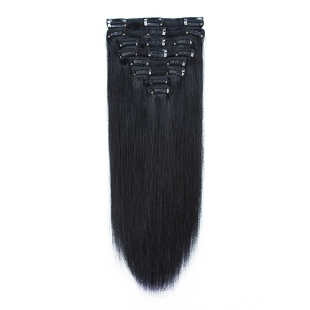 7a grade 100% unprocessed raw indian virgin hair extensions clip in human