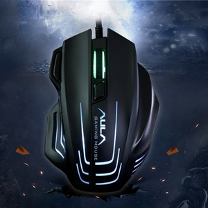China supply Aula Series Ghost Shark II Colourful Light 7D Optical Competitive USB Wired Game Mouse with cheap price