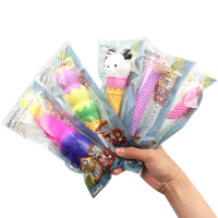 2019 Cute Cartoon Animal Ball Pen Unicorn Ice Cream Panda Galaxy Squishy Gift Pencils