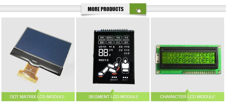 Costom 5 dígitos display lcd segmento 7 mono 5 7 segmento dígitos lcd, backlight display lcd segmento de 7