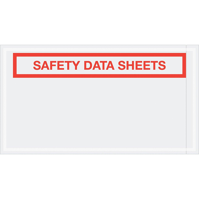 "Aviditi PL494 Tape Logic SDS Envelopes, ""Safety Data Sheets"", 5 1/2"" x 10"", Clear (Pack of 1000)"