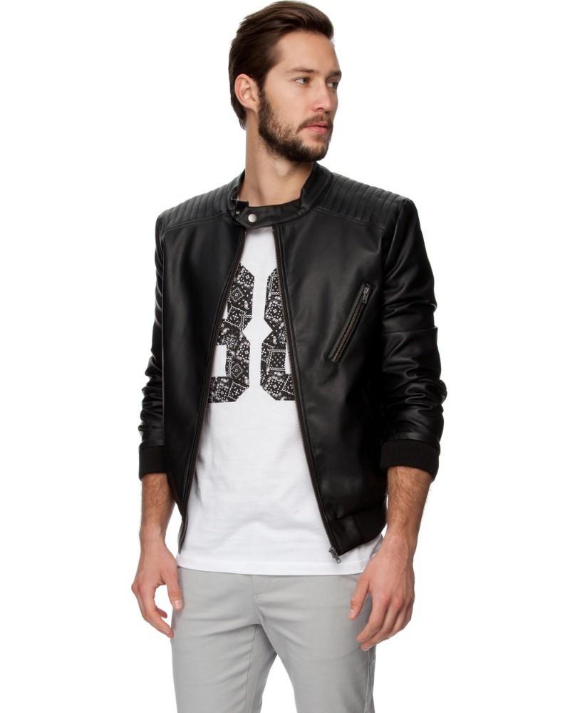 Suitable Fit Blank Black Leather Jacket Men - Buy Leather Jacket ...