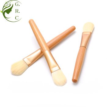 Oem Own Brand Luxury Portable Bamboo Single Vegan Face Liquid Foundation Brushes Private Label New Cream Makeup Brush Foundation
