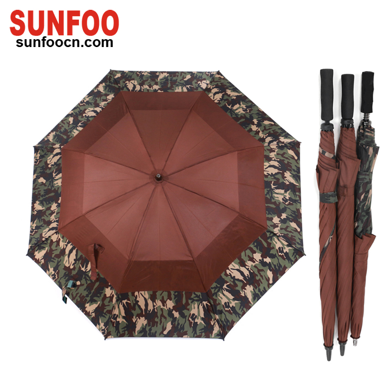 Sunfoo double layer windproof hunting camouflage golf umbrella