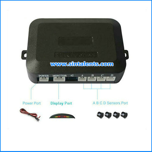 Automobile anti collision LED reverse radar alarm system for truck